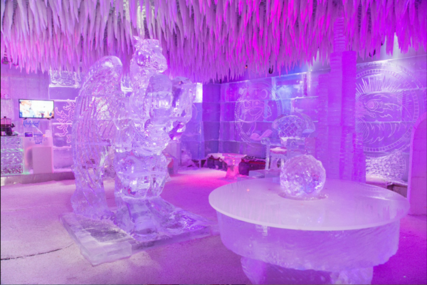 Isskulptur i Dubai Chill out lounge